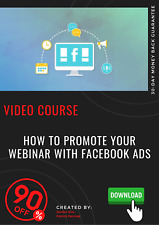 How To Promote Your Webinar With Facebook Ads video training course tutorial