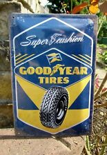 Licensed GOODYEAR TIRES Super Cushion Metal WALL SIGN