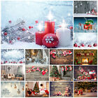 Christmas Backdrop Fireplace Tree Gift Photography Background Xams Party Decor