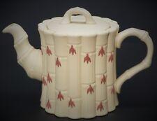 Wedgwood Jasperware Terracotta on Primrose Yellow Bamboo Caneware Tea Pot