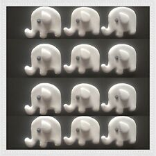 12 edible baby elephant cake cupcake topper baby shower christening  Any Colour