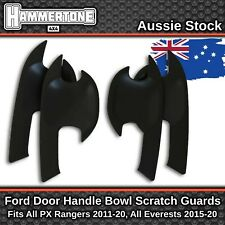 Black Door Handle Bowl Scratch Protector Accessories For Ford Ranger & Everest