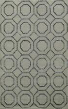 Trellis Indian Geometric Hand-tufted Area Rug Contemporary Wool/ Silk 4x6 Carpet