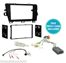 Double Din Car Stereo Fascia Fitting Kit, Steering Wheel For Toyota Prius 2010>