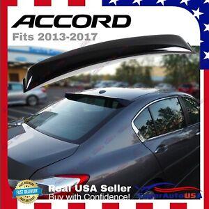 For Honda Accord 2013-2017 Sedan JDM Sport Rear Roof Window Visor Spoiler Wing