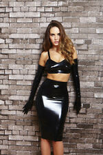 Black Latex Rubber Long Skirt Extra Large  2nds Grade  BIN