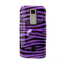 For Huawei Ascend M860 Hard Protector Snap on Phone Case Cover Purple Zebra