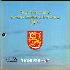 Set BU officiel FINLANDE 2001 - Série 1 centime à 2 euros - Neuf
