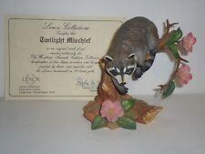 Lenox Woodland Animal Collection Twilight Mischief Racoon 1990 Box & COA