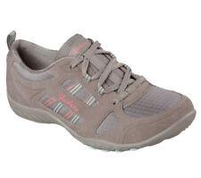 NEW SKECHERS Women Sneakers Trainers Memory Foam BREATHE-EASY - GOOD LUCK grey