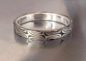 Mokume Ring, Mix Metal in Size8