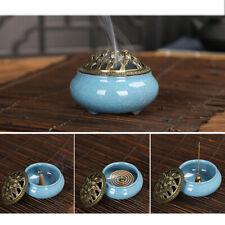 Quemador de incienso Cone  de cerámica con cubierta brasero de incienso
