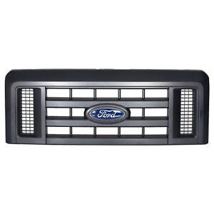 OEM NEW Front Grille Assembly w/ Emblem Textured Black E-Series Van 8C2Z8200B
