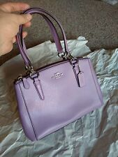 NWT COACH MINI CHRISTIE CARRYALL IN CROSSGRAIN LEATHER  WOMENS HANDBAG F36704
