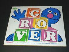 Vintage 1974 Playskool Sesame Street Grover's Blocks Wood Preschool Tray Puzzle