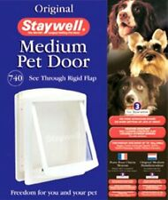 Staywell Original Mascota Puerta MEDIANO BLANCO puerta abatible 740
