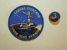 Lot of 2 NASA Space Shuttle Mission STS-88 First ISS Flight Iron On Patch & Pin