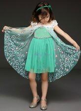 FROZEN FEVER Elsa Glitter Dress with cape - NEW - Short -XMAS Gift pack