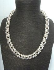 "Solid Heavy Sterling Silver Plain & Patterned Belcher Chain 26""- 104 grams"