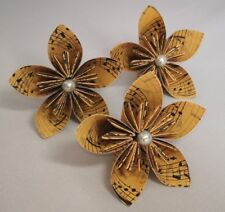 20 Origami Kusudama Flowers in a Vintage Music Paper Design, Wedding, Bouquet,