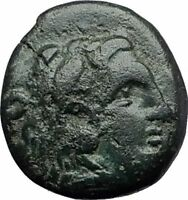 LYSIMACHOS 297BC Thrace King Authentic Ancient Greek Coin HERCULES WREATH i60824