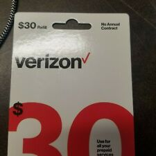 LOT OF 4 $30   Verizon Wireless Prepaid Refill Phone Card ( Email Delivery )