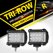 Work Cube Side Shooter LED Light Bar Spot Flood Driving Fog Pod 4'' 95W CREE x2
