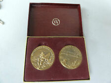 BRONZE TOKEN MEDALLION WITTNAUER PRECIOUS METALS SET OF 2 NORTH POLE FIRST FLIGH
