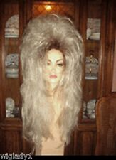 EMPRESS BIANCA DRAG QUEEN WIG LONG STRAIGHT ROOTED BLONDE VOLUME THICK BODY HOT