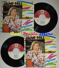 LP 45 7'' JANE HILL Dizzy night 1985 BABY RECORDS BR 50341 cd mc dvd