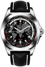 WB3510U4/BD94-435X | NEW BREITLING GALACTIC UNITIME MENS WATCH ON LEATHER STRAP