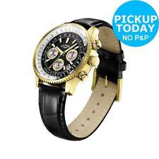 Rotary Men's Black Strap Pilot Watch.