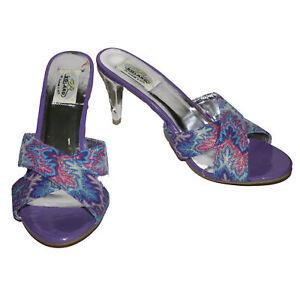 Bolaro by Summer Rio Ladies' Sandals High Heel Open Toe NWOB (Purple, 10)