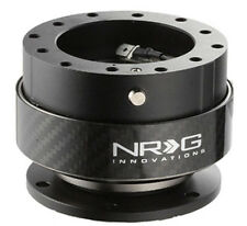 NRG Steering Wheel Quick Release Kit Gen 2.0 BLACK Body & CARBON FIBER Ring