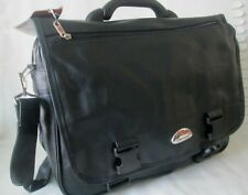STYLISH LEATHER LOOK LAPTOP BRIEF CASE , SATCHEL ORGANISER BAG FLIGHT BAG