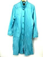 Maralyce Ferree Womens Coat Light Blue Trench Rain Medium Lagenlook Opera