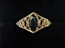 Solitaire Natural Sapphire Yellow Gold Fine Rings