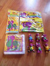 Barney Dinosaur Birthday Party Supplies 11pc Lot 1992 Unique Multi-color NOS