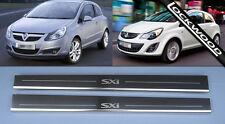 Vauxhall Corsa D (2006-2014) SXi 2 Door Stainless Sill Protectors Kick Plates