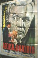XL  Filmplakat, Plakat,ACCUSA DI OMICIOIO,PETER VAN EYCK, EVA BARTOK,HOLM #163