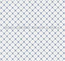 Blue White Diamond Grid Lines Vinyl Laminate Contact Paper Drawer Peel Stick