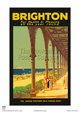 Sussex Brighton Hove Ferrovia Vintage Poster Da Viaggio Retro Pubblicità ARTE