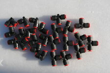 """SMC  FITTINGS, Union Tee & Elbow One-Touch Fitting, 3/8"""" Tube ( Lots of 24 )"""