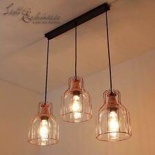 Effektvolle Luminaire suspendu en cuivre 3XE27 Lampe vintage COUVERTURE lumière