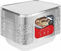 Stock Your Home Disposable 9x13 25 Aluminum Pans with 25 Covers