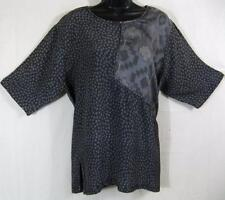 T359~TIENDA HO~Violet Slate~NOTHING MATCHES~Santa Fe~Rayon Top~Vent~s/s~OS XL