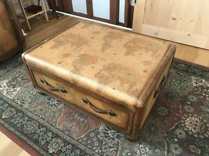 Vintage World Map Coffee Table