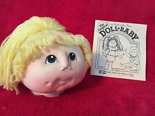 Set of 3 Vintage Martha Nelson Original Baby Doll Heads In Package Certificates