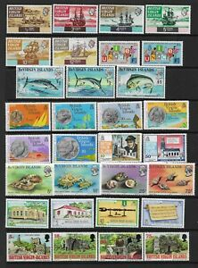 4 scans-Collection of MINT Virgin Islands stamps & Mini Sheets.