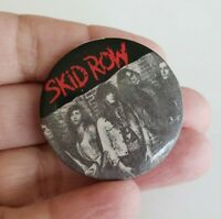 Vintage 1989 Skid Row Pinback Button Pin Funky Ent 1.5""